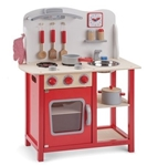Afbeeldingen van Keukentje  'Bon Appetit' rood New Classic Toys