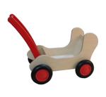 Image de Rode Combi Poppenwagen - Loopwagen-Blokkenduwwagen Van Dijk Toys