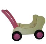 Image de Roze Combi Poppenwagen - Loopwagen-Blokkenduwwagen Van Dijk Toys
