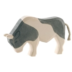 Afbeeldingen van Stier zwartbont 10,5 cm Ostheimer