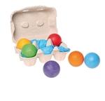Afbeeldingen van Grimm's Gekleurde houten ballen 6 stuks