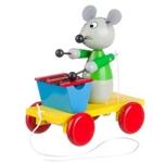 Picture of Trekfiguur xylofoon muis in groen jasje