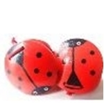 Picture of Houten castagnette lieveheersbeestje