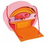 Afbeeldingen van Poppenhuisje om mee te nemen roze-oranje Grimm's