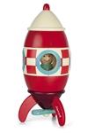 Afbeeldingen van Magneetset raket  Janod 14 cm hoog