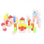 Picture of Blokkenton 50 gekleurde en blank houten blokken Bigjigs