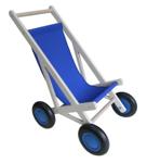 Picture of Poppenbuggy hout blauw berkenmuliplex Van Dijk Toys