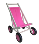 Picture of Poppenbuggy hout roze berkenmultiplex Van Dijk Toys