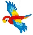 Afbeeldingen van Zweeffiguur papegaai spanwijdte 65 cm