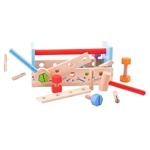 Afbeeldingen van Speel-gereedschapskist en werkbank hout Bigjigs