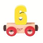 Image de Cijfer 6 kleur, naamtrein - lettertrein Bigjigs