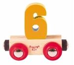 Image de Cijfer 5 kleur, naamtrein - lettertrein Bigjigs