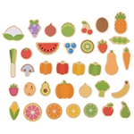 Afbeeldingen van Houten magneten - groente en fruit