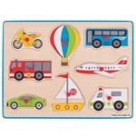 Afbeeldingen van Knoppenpuzzel Vervoer 3jr+ Bigjigs
