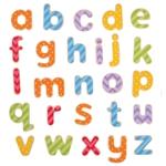 Afbeeldingen van Houten magnetische kleine letters Bigjigs