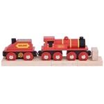 Afbeeldingen van Rode locomotief met kolen tender