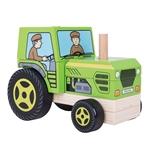 Afbeeldingen van Stapelpuzzel Tractor Bigjigs