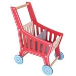 Afbeeldingen van Winkelwagen rood/blank hout