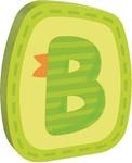 Afbeeldingen van Houten letter B Haba