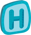 Afbeeldingen van Houten letter H Haba
