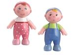 Afbeeldingen van Poppenhuis pop Little Friends babies Haba