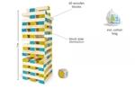 Afbeeldingen van Grote bouwtoren hout met dobbelsteen Jenga BS Toys Buitenspeel
