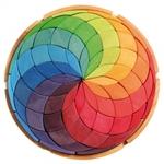 Picture of Puzzel bouwblokken Kleurenspiraal Mandala 38 cm 72-delig Grimm's