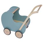 Picture of Poppenwagen vintage blauw-groen hout Van Dijk Toys