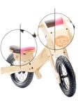 Picture of Trybike, zadelhoes en kinbeschermer roze voor loopfiets hout