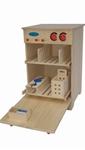 Picture of Speel- kinderkeuken-Kleuter Vaatwasser blank hout 40x 40x 61 cm Van Dijk Toys