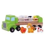 Picture of Houten vrachtauto met boerderijdieren