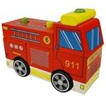 Image de Blokken stapelpuzzel brandweerauto
