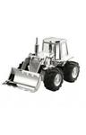 Picture of Spaarpot Tractor Buldozer 14 cm Verzilverd gelakt