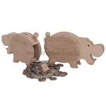 Afbeeldingen van Spaarpot Nijlpaard beukenhout