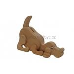 Afbeeldingen van Spaarpot Hond beukenhout