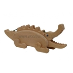 Afbeeldingen van Spaarpot Krokodil beukenhout