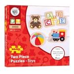 Afbeeldingen van Puzzels Speelgoed 4 x 2-delig 12m+ Bigjigs
