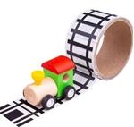Afbeeldingen van Tape Spoorweg met locomotief Bigjigs