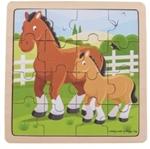Picture of Legpuzzel Paarden in frame 16 stukjes 2jr+ Bigjigs