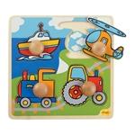 Afbeeldingen van Puzzel grote knoppen Vervoer 1+ Bigjigs