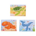 Afbeeldingen van 3 Puzzels van 6 stukjes Zeeleven 2jr+ Bigjigs