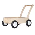 Image de Luxe loopwagen- white wash Blokkenduwwagen Hout met rechte rand  Van Dijk Toys
