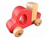 Afbeeldingen van Grijp vrachtauto rood met blokje