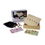 Image de Lottospel kienset in houten kist