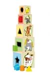 Picture of Stapelblokken toren vrolijke dieren