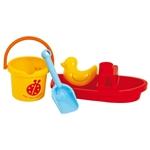 Afbeeldingen van Set met boot en emmer strand-waterspeelgoed Gowi