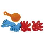 Image de Strand - zand vormpjes handen en voeten 4 stuks