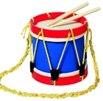Picture of Fanfare- tamboer trommel, body volledig hout GOKI