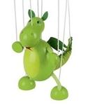 Picture of Goki Marionette Dinosaurus Hout Totaal 38 cm diertje 16 cm