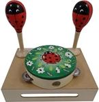 Image de Muziekset Lieveheersbeestje sambaballen en tamboerijn